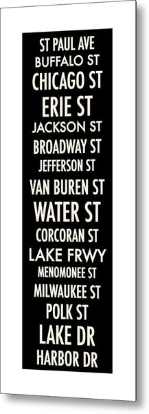 Streets Of Third Ward Milwaukee Metal Print
