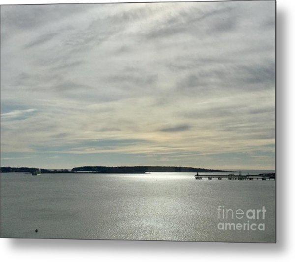 Striated Sky Over Casco Bay Metal Print