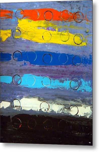 Striped Metal Print