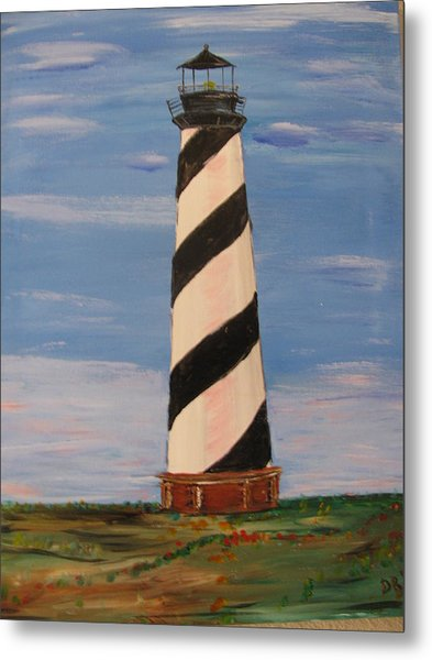 Striped Sentinal Metal Print by Dennis Poyant