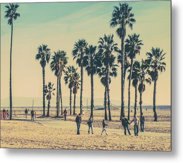 Stroll Down Venice Beach Metal Print