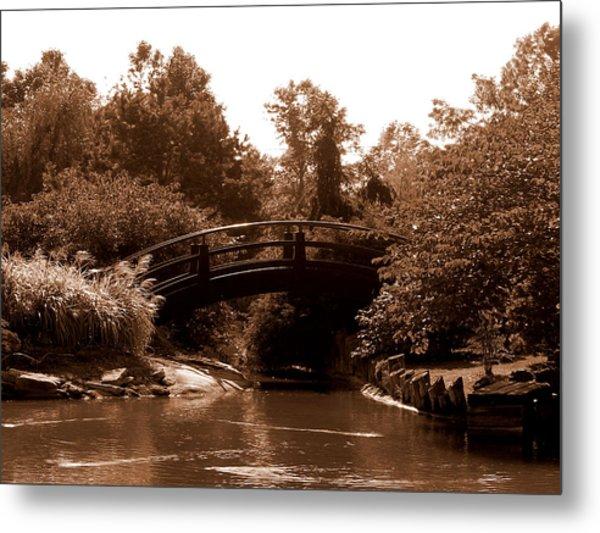 Stroll Garden Bridge Metal Print by Audrey Venute