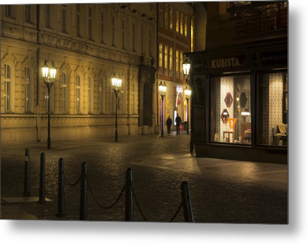 Stroll In Prague's Evening Metal Print by Marek Boguszak
