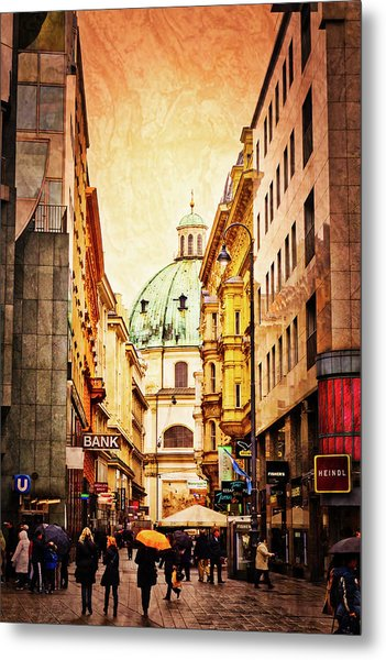 A Rainy Day In Vienna Metal Print