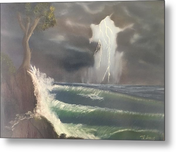 Strong Against The Storm Metal Print