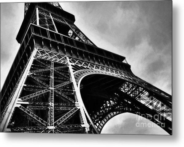 Strong As Steel In Paris Metal Print by Mel Steinhauer