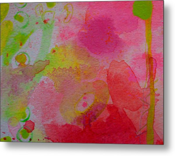 Metal Print featuring the painting Stronger Every Day by Tracy Bonin
