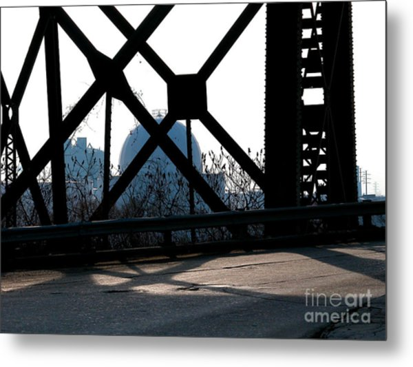 Structural Members Metal Print by Donna Stewart