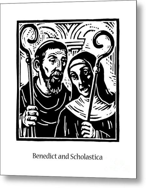 Sts. Benedict And Scholastica - Jlbas Metal Print