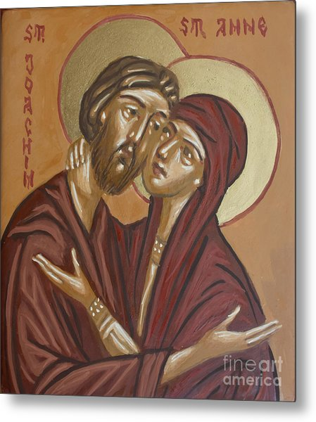 Saints Joachim And Anna Metal Print