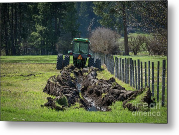Stuck In The Muck Agriculture Art By Kaylyn Franks Metal Print