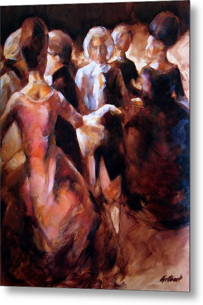 Study For At The Ball Metal Print by Stuart Gilbert