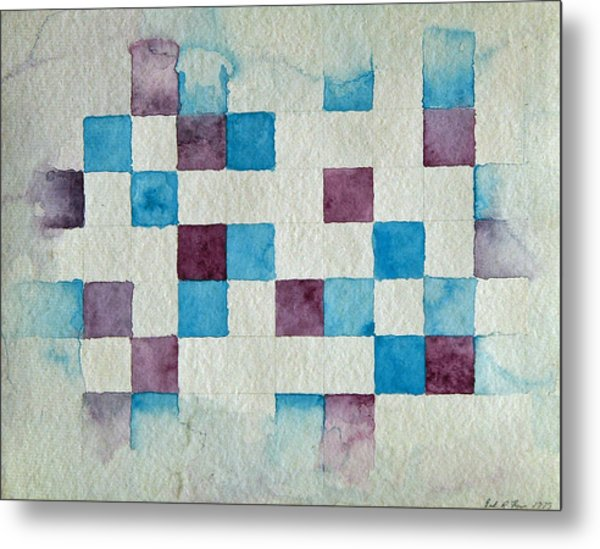 Study In Blue And Violet Metal Print