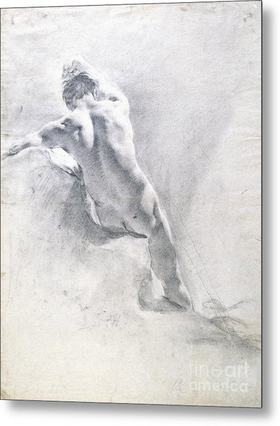 Study Of A Male Nude Metal Print