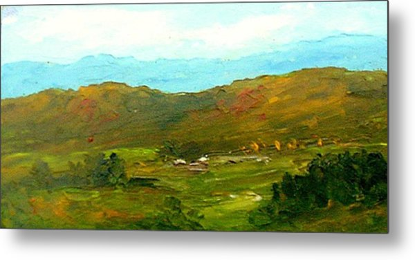 Study Ranch Land Metal Print by Fred Wilson