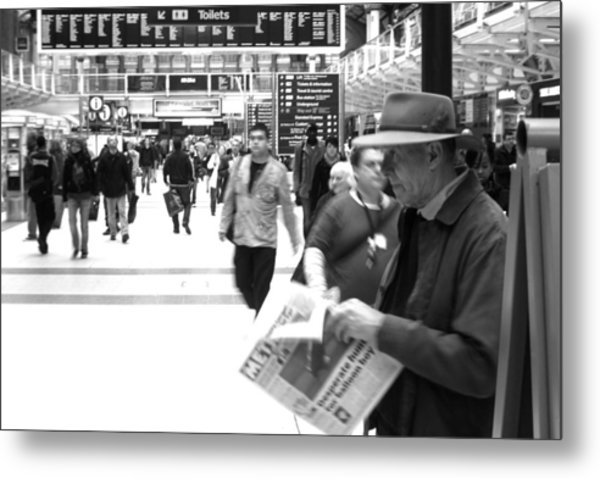 Studying The Days Gone Metal Print by Jez C Self