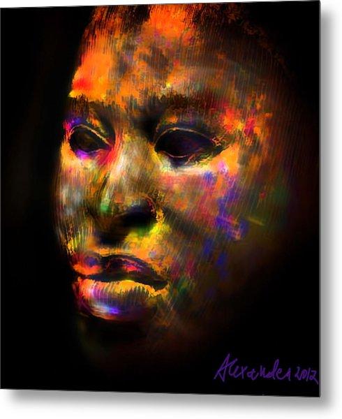 Stunning African Mask  Metal Print