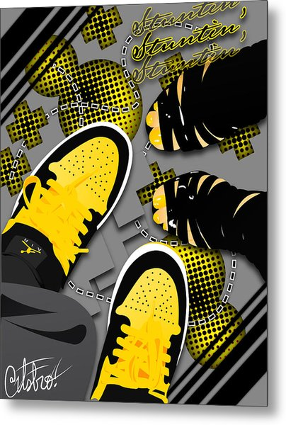 Stuntin Bumble Bees Metal Print by Devin Green