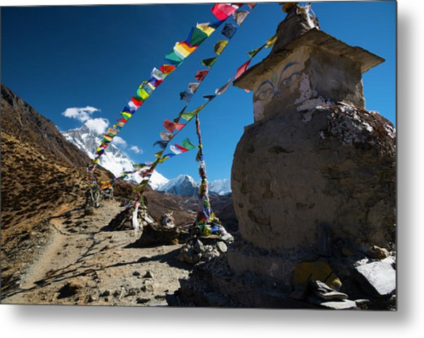 Metal Print featuring the photograph Stupa  by Owen Weber