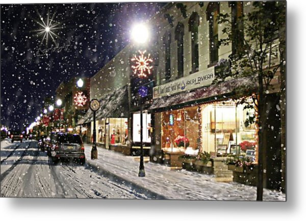 Sturgeon Bay On A Magical Night Metal Print