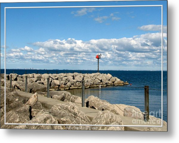 Sturgeon Point Marina On Lake Erie Metal Print