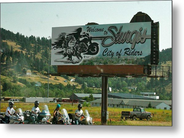 Sturgis City Of Riders Metal Print