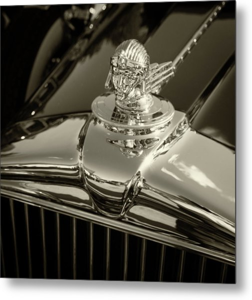 Stutz Hood Ornament Metal Print
