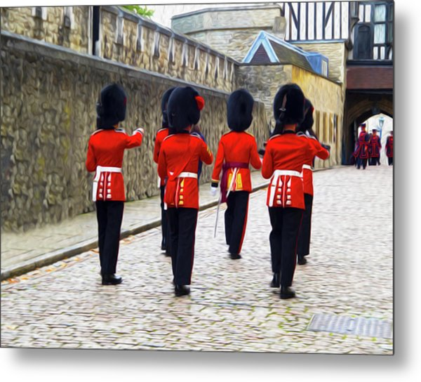 Step Aside For The Tower Guard Metal Print