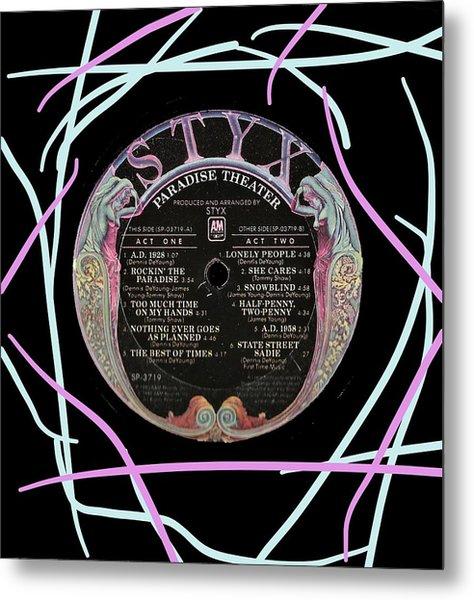 Styx Pardadise Theater Lp Label Metal Print