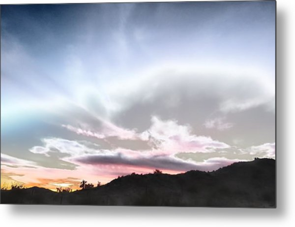 Submarine In The Sky Metal Print