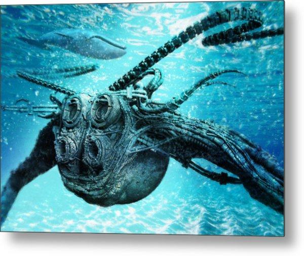 Metal Print featuring the digital art Submarine by Uwe Jarling