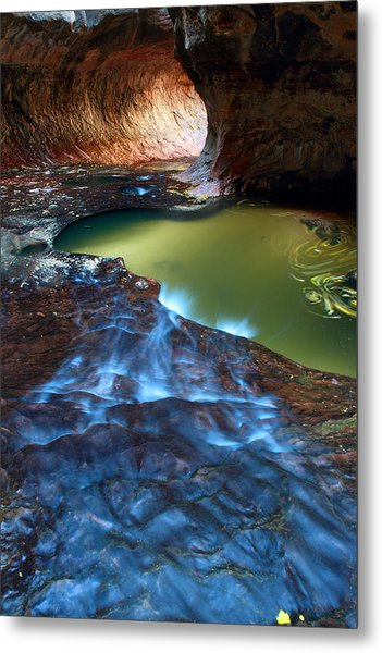 Subway In Zion National Park Utah Metal Print