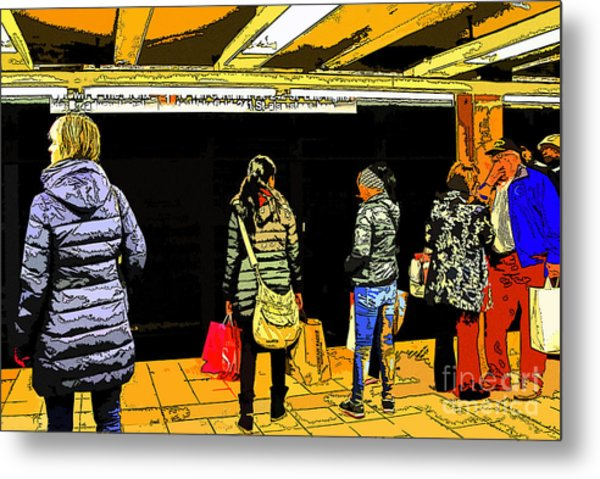 Subway Platform Metal Print by Gino Inocentes