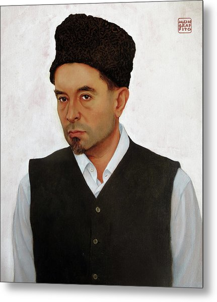 Sufi With Astrakhan Hat Metal Print