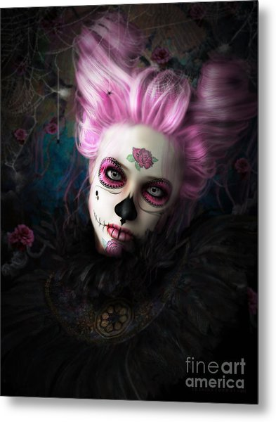 Sugar Doll Pink Metal Print