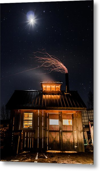 Sugar House At Night Metal Print