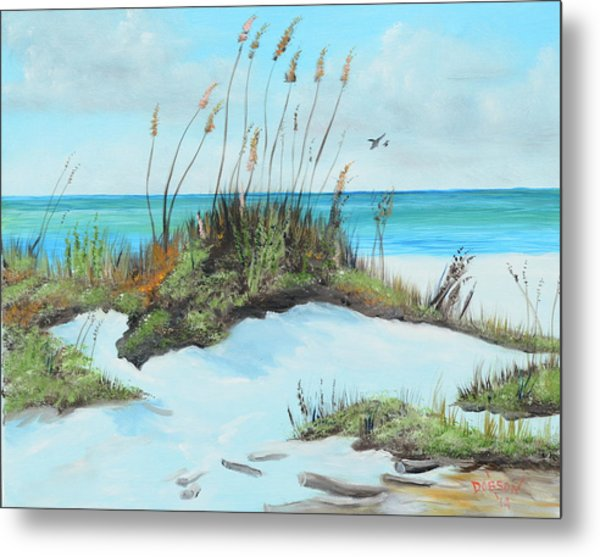 Sugar White Beach Metal Print