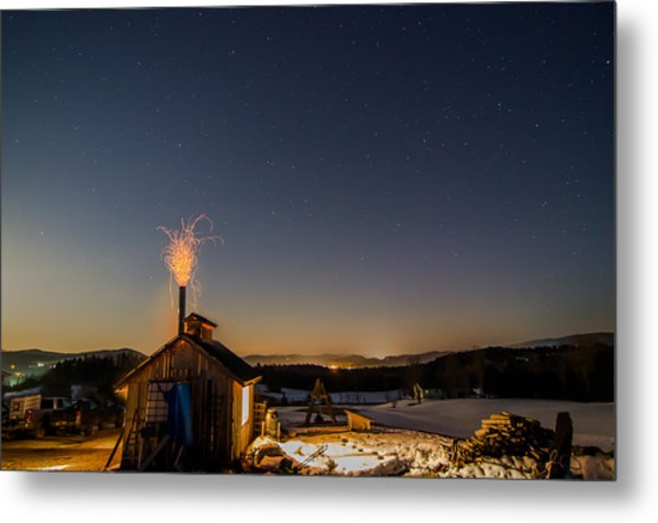 Sugaring View With Stars Metal Print
