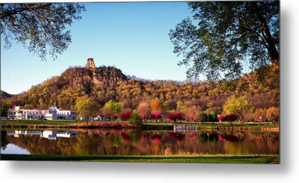 Sugarloaf Reflection Metal Print