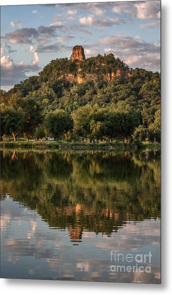 Sugarloaf Reflection Winona Metal Print by Kari Yearous