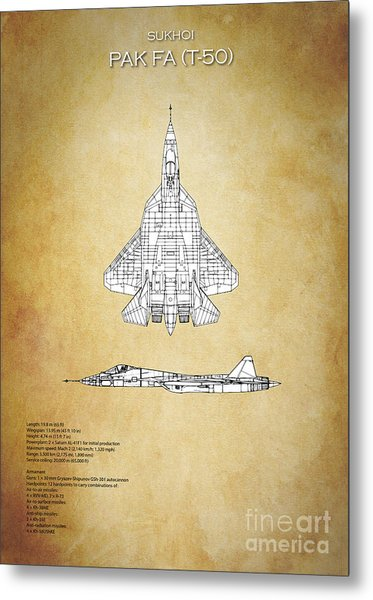 Sukhoi Pak Fa T-50 Metal Print