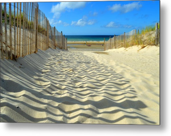 Sultry September Beach Metal Print