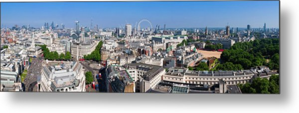 Sumer Panorama Of London Metal Print