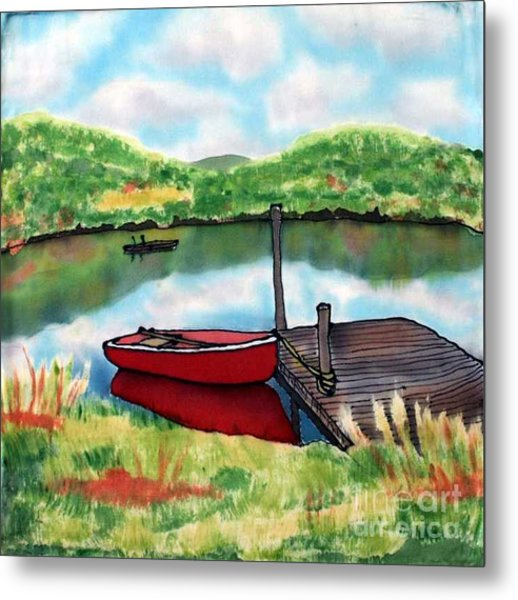 Sumer Reflections Metal Print by Linda Marcille