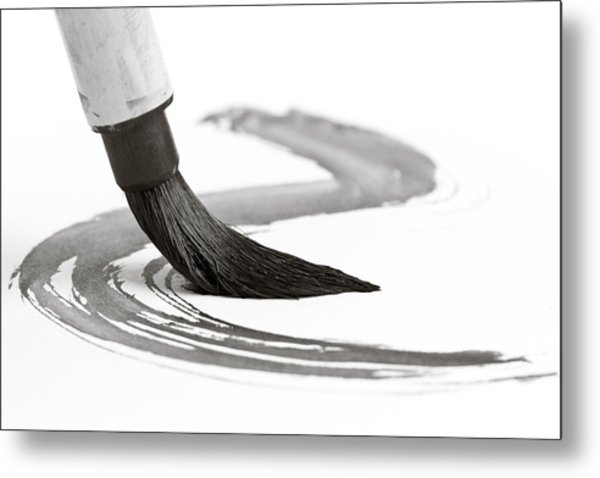Sumi-e Brush 2 Metal Print by Edward Myers