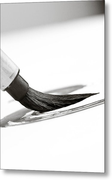 Sumi-e Brush Metal Print by Edward Myers