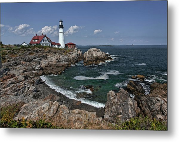 Summer Afternoon, Portland Headlight Metal Print