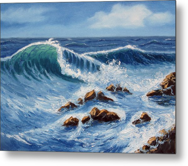 Summer At The Beach Metal Print by Lorraine Foster