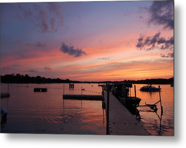 Summer At The Lake Metal Print by Daniel Ness