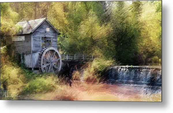 Summer At The Mill Metal Print